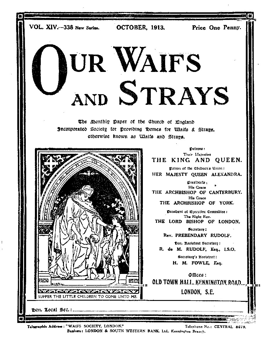 Our Waifs and Strays October 1913 - page 202