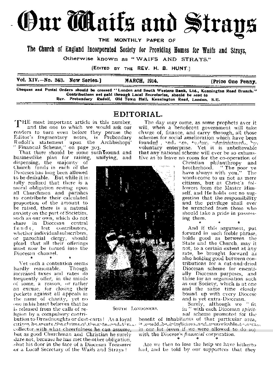 Our Waifs and Strays March 1914 - page 59