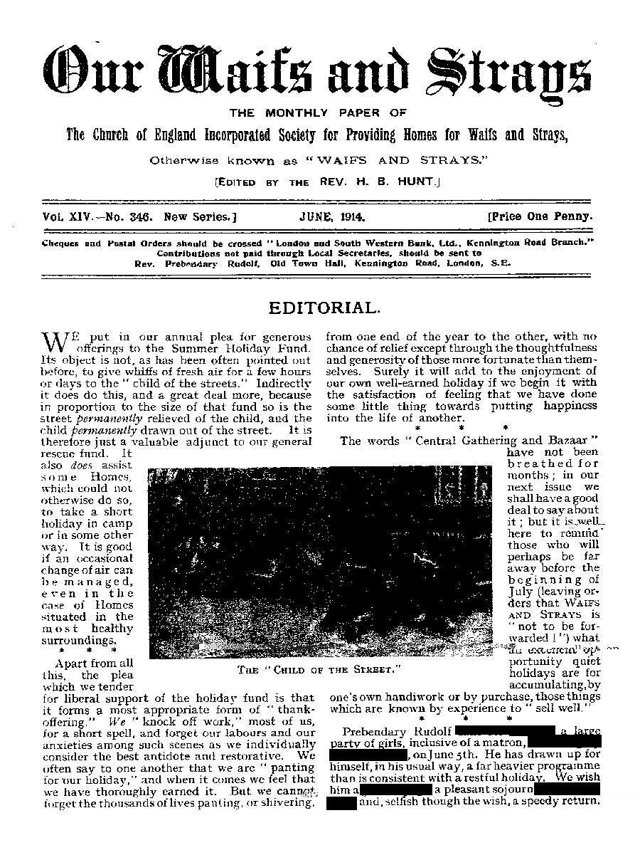 Our Waifs and Strays June 1914 - page 137