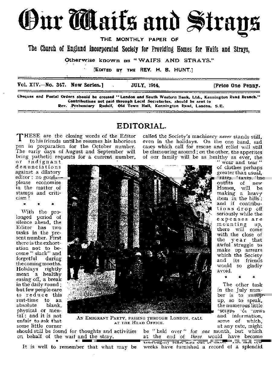 Our Waifs and Strays July 1914 - page 165