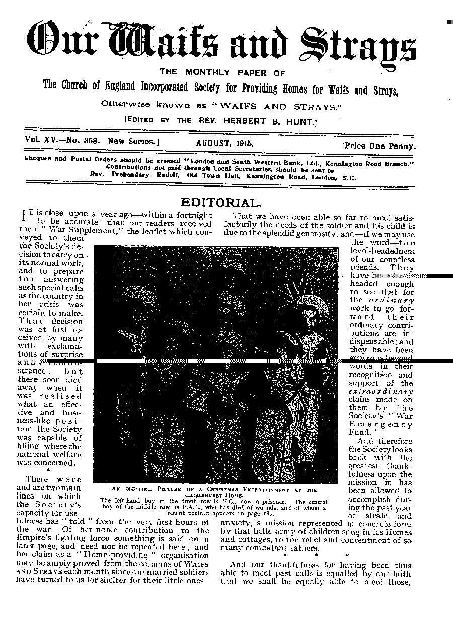 Our Waifs and Strays August 1915 - page 183