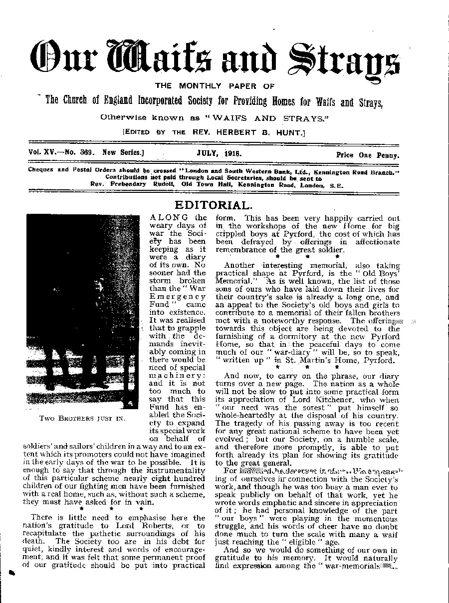 Our Waifs and Strays July 1916 - page 133