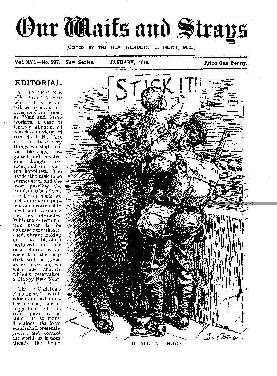 Our Waifs and Strays January 1918 - page 1
