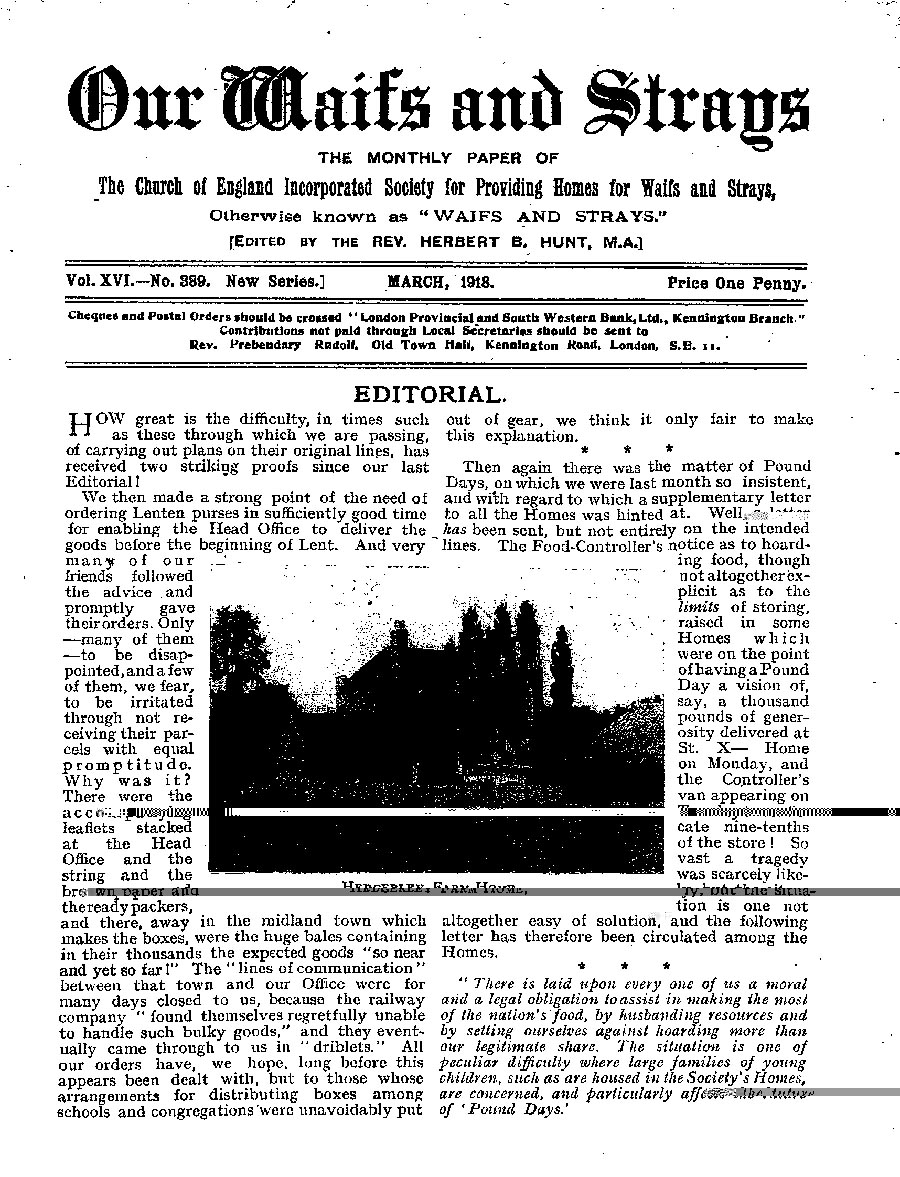 Our Waifs and Strays March 1918 - page 21