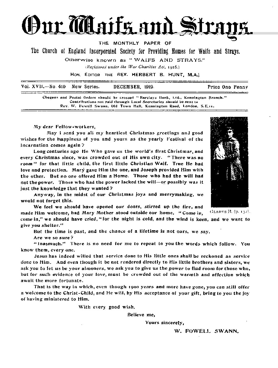 Our Waifs and Strays December 1919 - page 139
