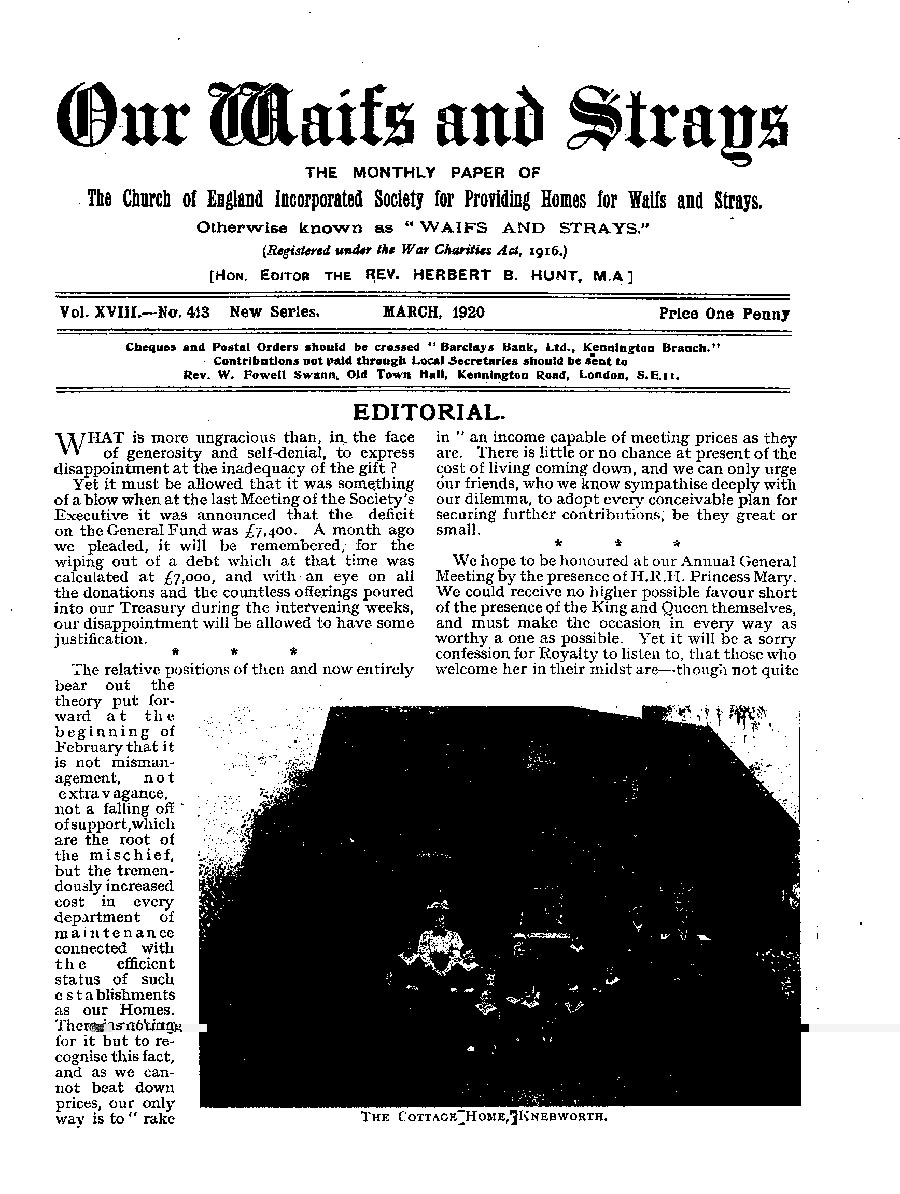 Our Waifs and Strays March 1920 - page 29