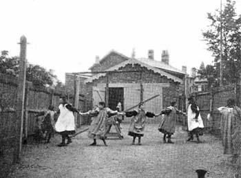 The Matron of this home encouraged the children to play in the fresh air. Gardening was a popular pastime and each child had their own little flowerbed to look after.