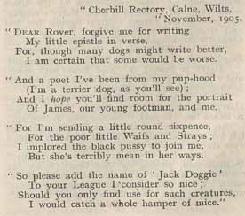 Letter from Jack Doggie