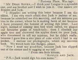 Letter from Ripples and Jack