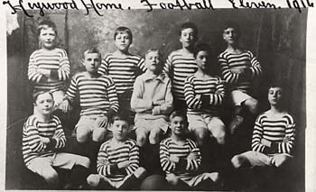 Many boys' homes had their own football team, which would compete in the local league.