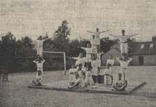 The Sampford Peverell Gymnastic Squad was always a favourite at local fêtes.