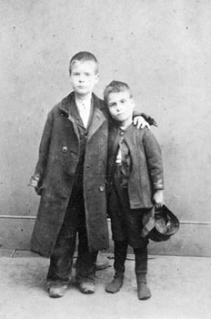 Young siblings were often taken into the Society's care together. Family tragedies meant that brothers and sisters could suddenly be left as orphans, or without proper parental care.
