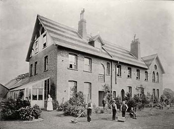 Great pride was taken in the appearance of children's homes, and gardens were always well tended and tidy.
