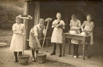 Good housework was a highly valued social ethic in early 20th century Britain. Children's homes took great pride in their cleanliness and always presented a spotless appearance.