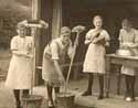 Girls doing domestic chores