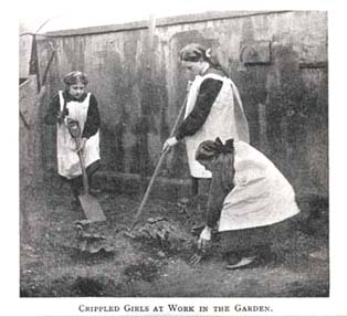 Every girl at St Nicholas' Home was given their own small flowerbed to look after.